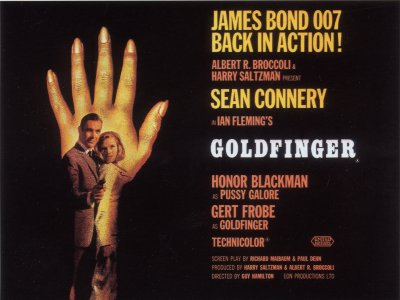 Goldfinger Alternative UK Quad Poster