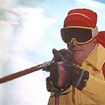 Roger Moore Skiing