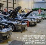 Aston Martin Vanquishes in workshop