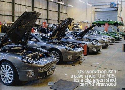 Aston Martin Vanquishes in workshop