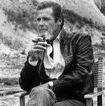 Roger Moore relaxes