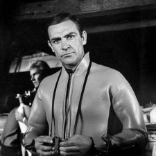 Connery on Thunderball set