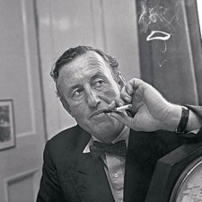 Ian Fleming in black and white