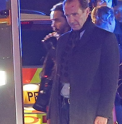 Spectre London filming Fiennes 23 May