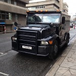 Spectre filming armoured van Friday 5 June
