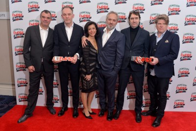 Mendes and team at Jameson Empire Awards 2016