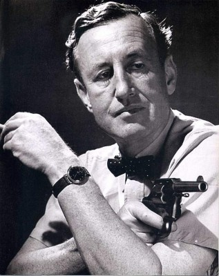 Ian Fleming with gun
