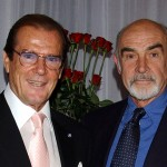 Connery with Roger Moore