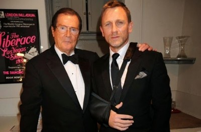 Daniel Craig with Roger Moore