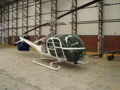 Gold Finger Hiller G-ASAZ helicopter