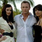 Eva Green, Daniel Craig, Caterina Murino at the multi-media press event, Paradise Island, Bahamas, 08/03/07