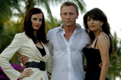 Eva Green, Daniel Craig, Caterina Murino at the multi-media press event, Paradise Island, Bahamas, 08/03/07