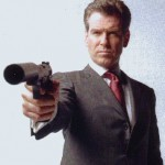 Pierce Brosnan takes aim