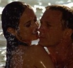 Vesper Lynd and James Bond frolic in the ocean in a deleted scene