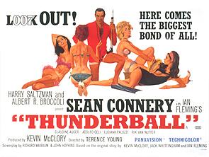 "Thunderball - UK Quad Poster 30"" x 40"""