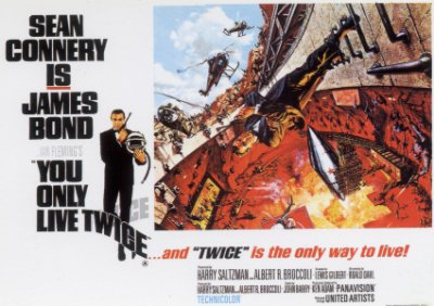 """You Only Live Twice - UK Quad Poster 30"""" x 40"""" Style (A)"""