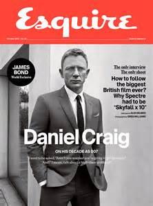 Dan Craig on cover of Esquire 2015