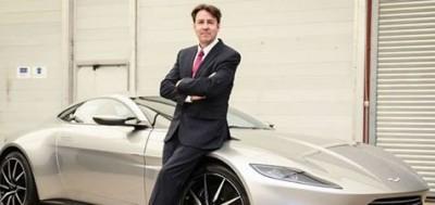 Jonathan Ross with Aston Martin