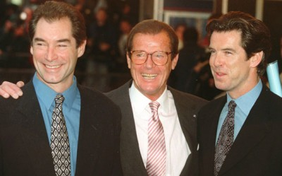 Brosnan and Dalton with Moore