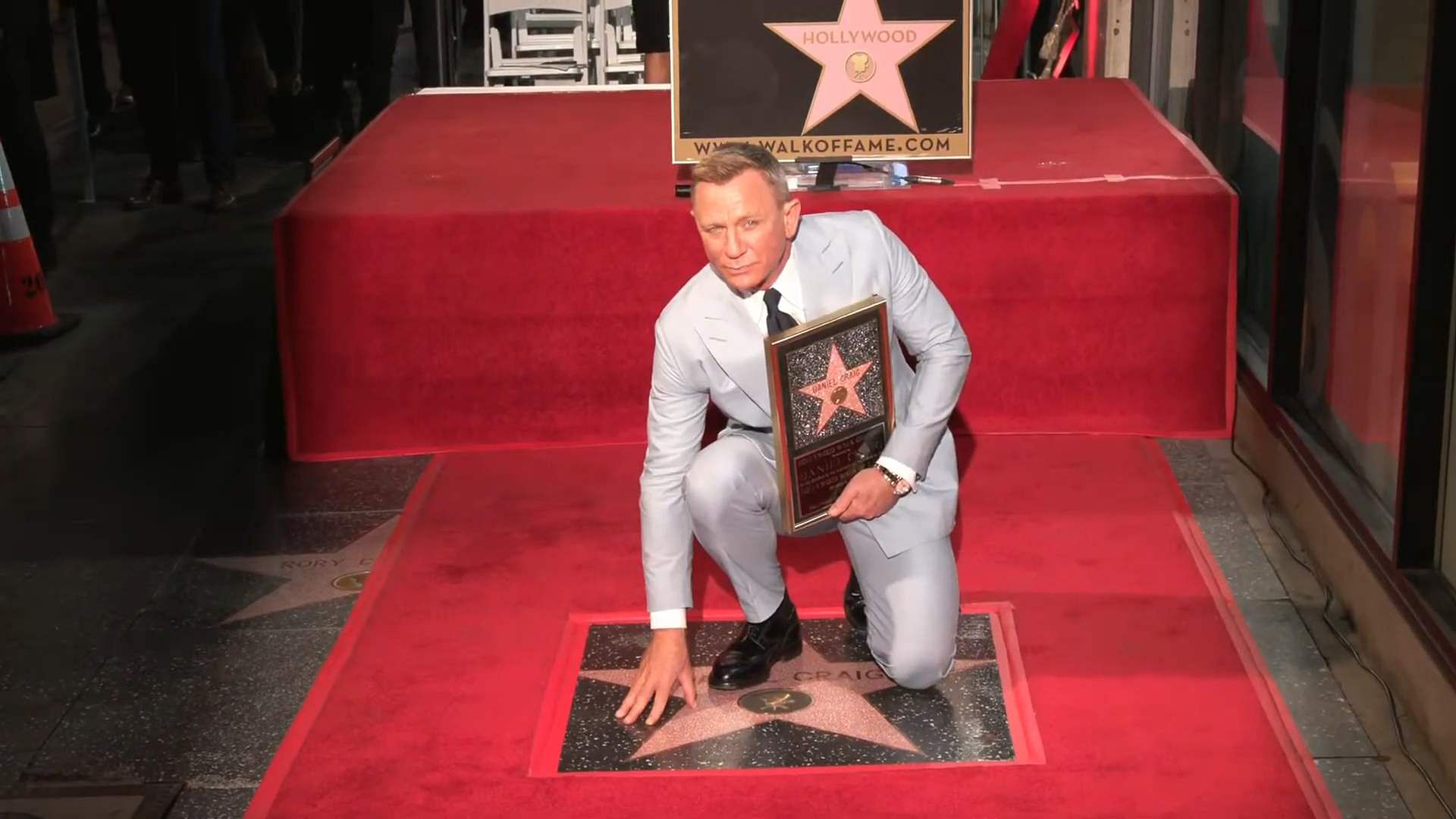 Role of Honour: Daniel awarded a Walk of Fame Star